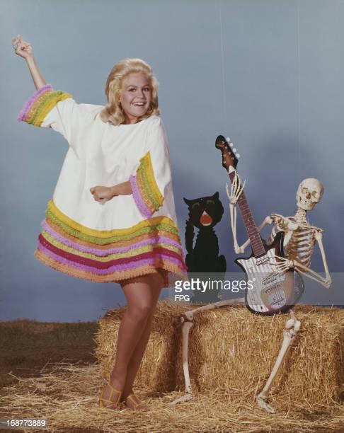American actress Sandra Dee celebrates Halloween at Universal circa 1968