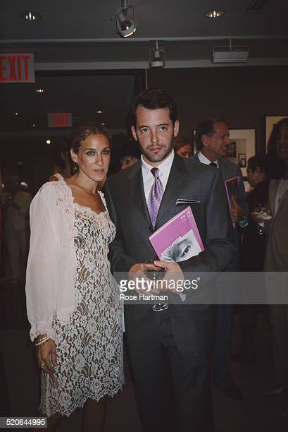 American actress Sarah Jessica Parker and her husband American actor Matthew Broderick at the 'Target for Friends Icons and Legends' at Christie's...