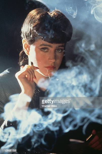 American actress Sean Young as Rachael in a scene from Ridley Scott's futuristic thriller 'Blade Runner' 1982