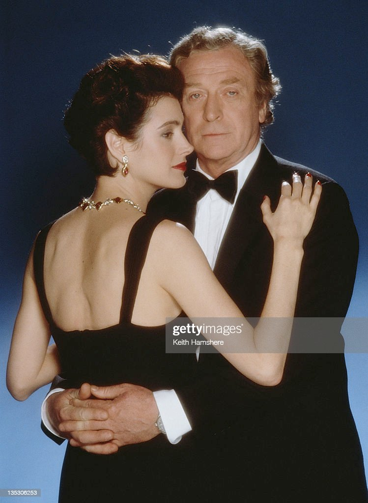 American actress Sean Young as Stacy Mansdorf and British actor Michael Caine as former secret agent Harry Anders in the film 'Blue Ice', 1992.