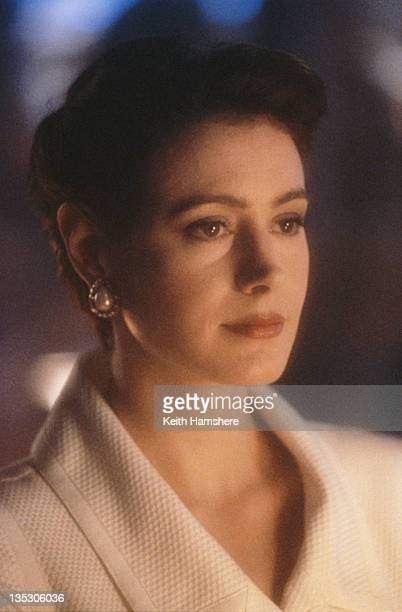 American actress Sean Young as Stacy Mansdorf in the film 'Blue Ice', 1992.