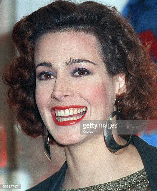 American actress Sean Young attends the opening of Planet Hollywood in Costa Mesa California 23rd October 1992