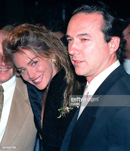 American actress Sharon Stone with writer and producer William J MacDonald circa 1993
