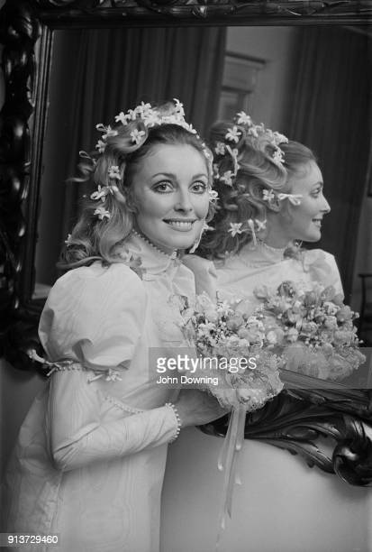 American actress Sharon Tate on her wedding day to film director Roman Polanski London UK 20th January 1968