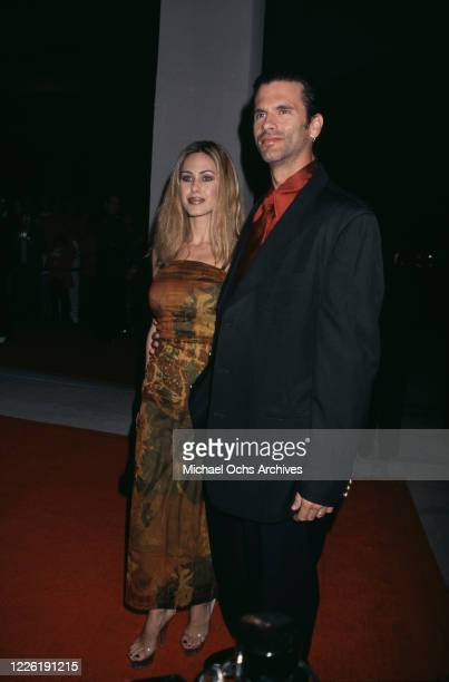 American actress Shauna Sands and her husband American actor Lorenzo Lamas attend the 2000 Annual International Film Festival Awards Gala held at the...