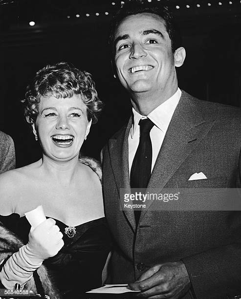 American actress Shelley Winters in Hollywood with her husband Italian actor Vittorio Gassman circa 1953
