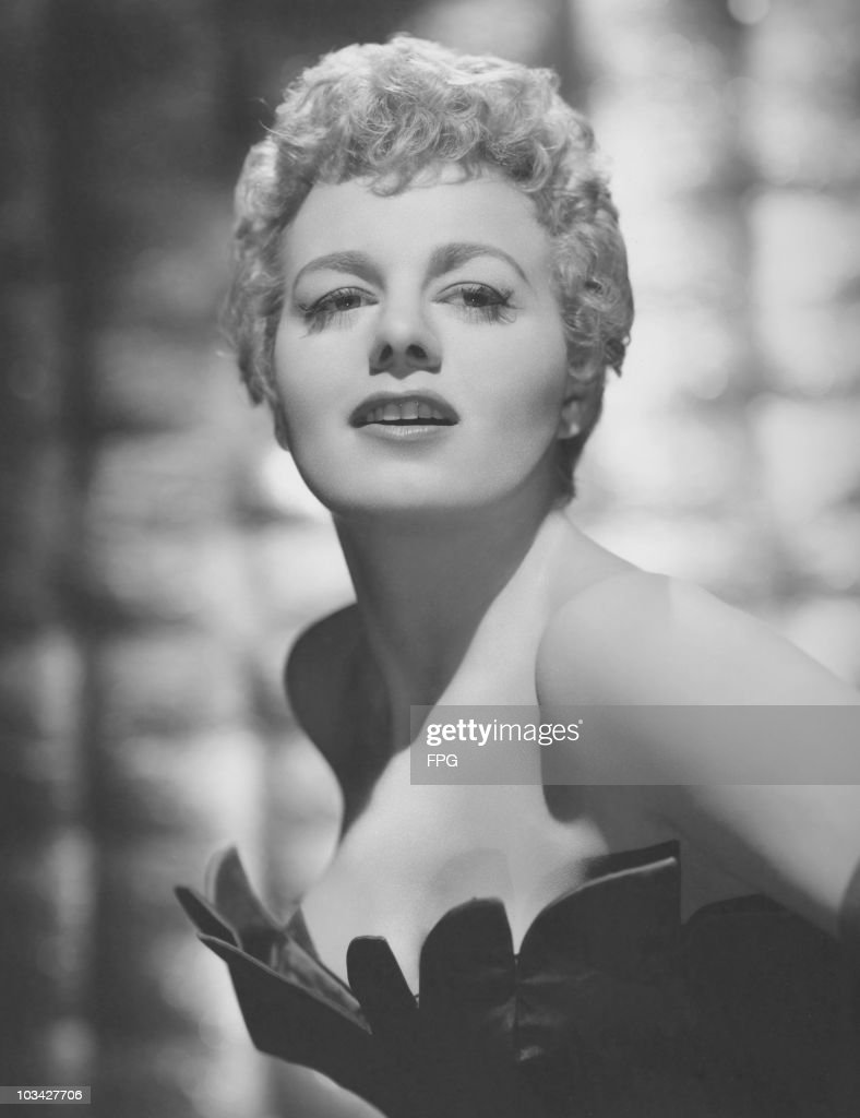 American actress Shelley Winters (1920 - 2006) poses on November 11, 1955.