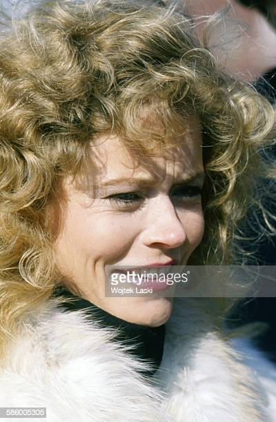 American actress Sheree J Wilson on the set of the TV soap opera 'Dallas' in Moscow Russia on March 20th 1989