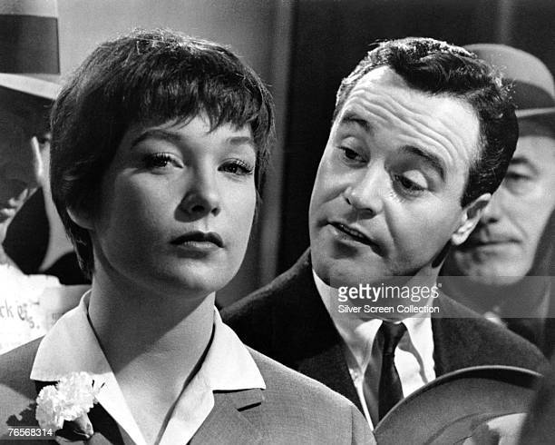 American actress Shirley MacLaine as Fran Kubelik and Jack Lemmon as CC 'Bud' Baxter in a scene from 'The Apartment' directed by Billy Wilder 1960