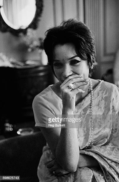 American actress Shirley Maclaine wearing a sari UK 13th September 1967