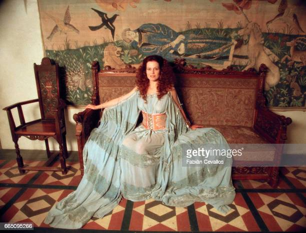 American actress Sigourney Weaver on the set of the film Snow White A Tale of Terror directed by Michael Cohn and based on Jacob and Wilhelm Grimm's...