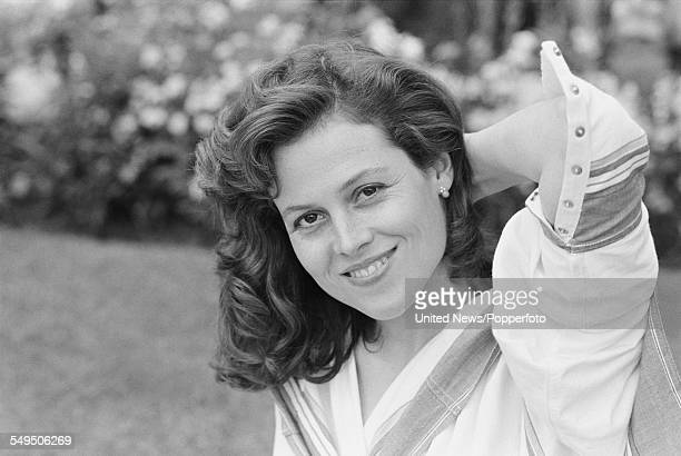 American actress Sigourney Weaver, who plays the character of Jill Bryant in the film 'The Year of Living Dangerously', pictured in London on 22nd...