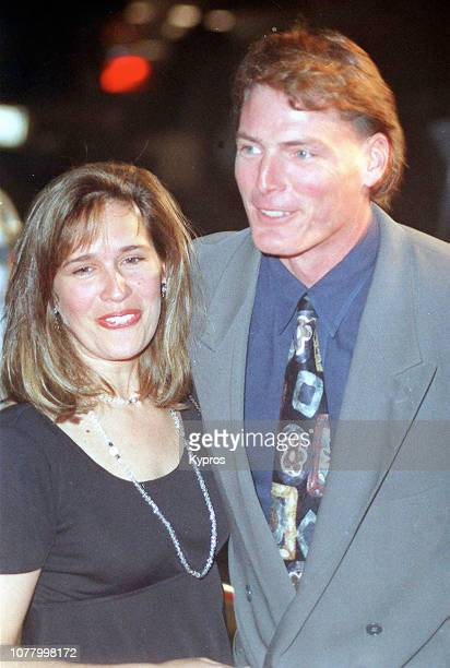 American actress, singer, and activist Dana Reeve and American actor Christopher Reeve during World Premiere of 'The Remains of the Day' at The...