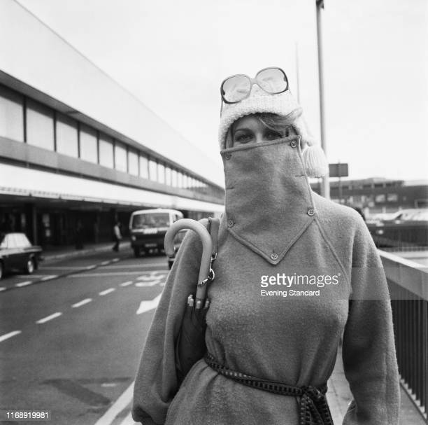 American actress singer and dancer AnnMargret at an airport UK 24th September 1976