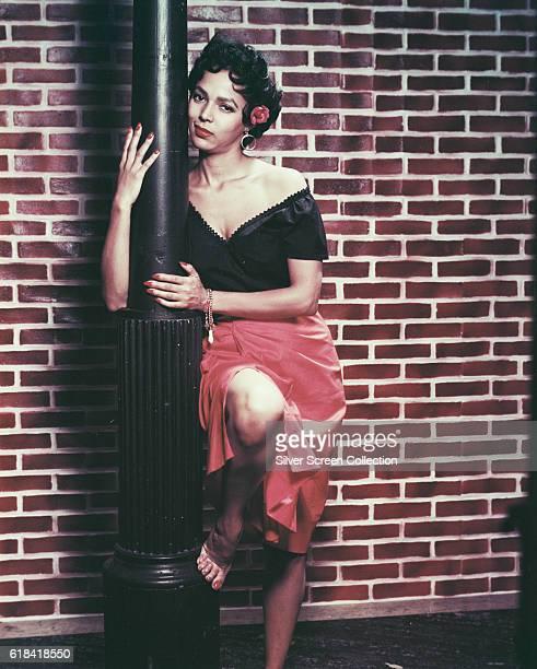 American actress singer and dancer Dorothy Dandridge in a publicity still for the musical film 'Carmen Jones' 1954
