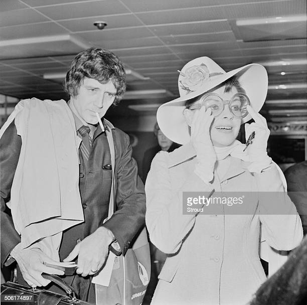 American actress singer and dancer Judy Garland and her husband musician and entrepreneur Mickey Deans at London Airport 1969