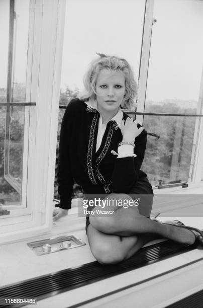 American actress, singer and fashion model Kim Basinger, UK, 30th September 1984.