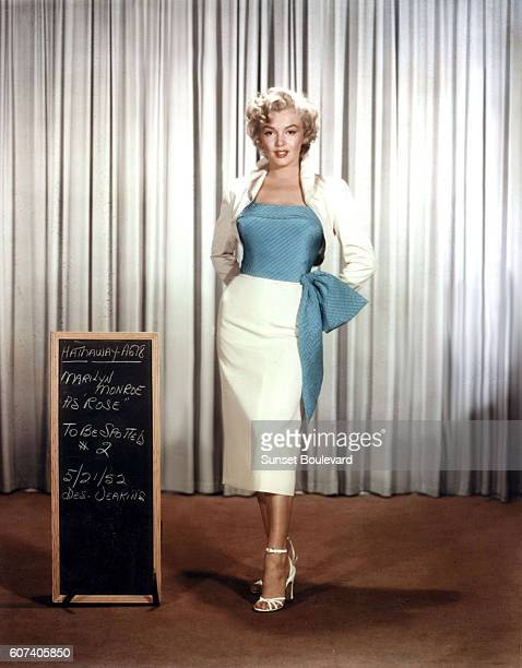 American actress singer and model Marilyn Monroe on the set of Niagara directed by Henry Hathaway