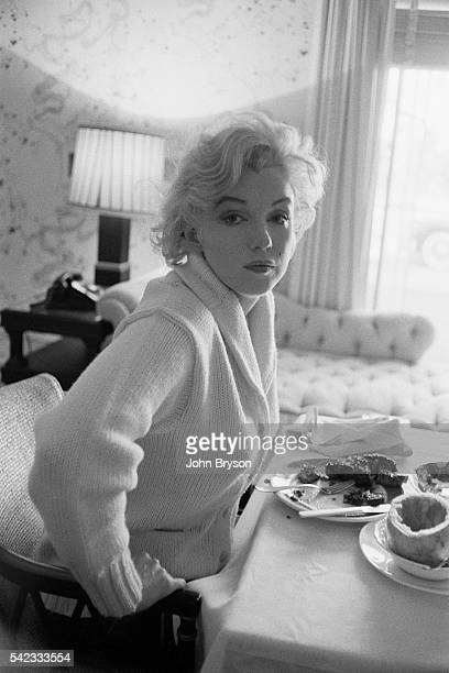 American actress singer and model Marilyn Monroe on the set of Let's Make Love directed by George Cukor Released in 1960