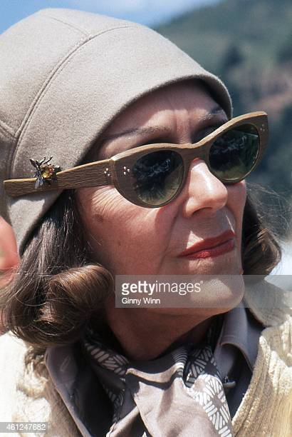 American actress singer and producer Gloria Swanson tributee at Telluride Film Festival 1974 in Telluride Colorado