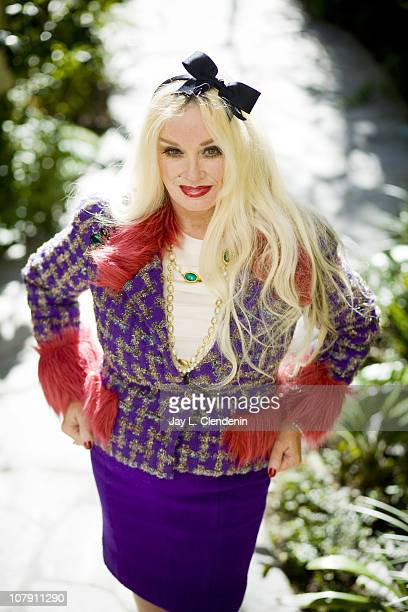 American actress singer and sex symbol Mamie Van Doren poses at a portrait session for the Los Angeles Times in Beverly Hills California on December...