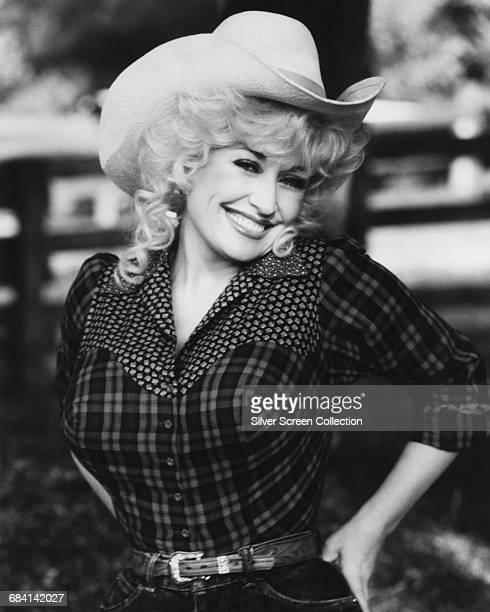 American actress, singer and songwriter Dolly Parton, circa 1975.