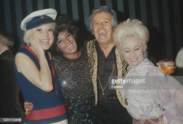 American actress singer dancer and comedian Carol Channing Welsh singer Shirley Bassey IrishEnglish singer and entertainer Danny La Rue and English...