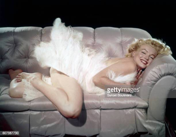 American actress singer model and sex symbol Marilyn Monroe on the set of The Prince and the Showgirl directed by Laurence Olivier