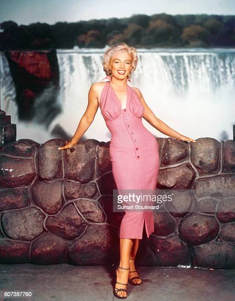 American actress, singer, model and sex symbol Marilyn Monroe on the set of Niagara, directed by Henry Hathaway.