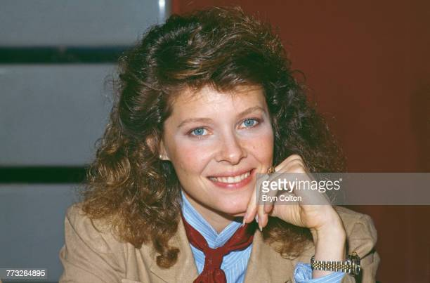 American actress star Kate Capshaw poses whilst promoting her new film 'Indiana Jones and the Temple of Doom' ahead of the Royal European Charity...