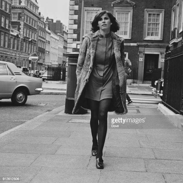American actress Stefanie Powers in London UK 15th July 1968