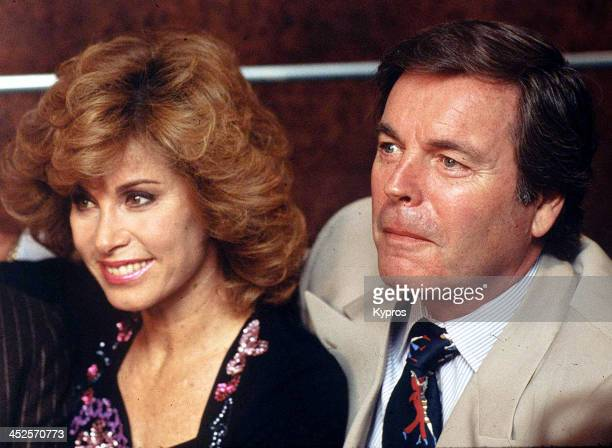 American actress Stefanie Powers with 'Hart to Hart' costar Robert Wagner circa 1987