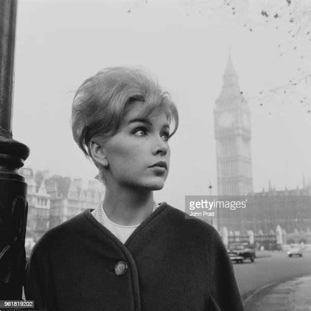 American actress Stella Stevens visits London November 1961