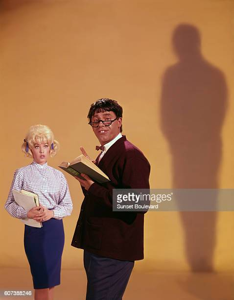 American actress Stella Stevens with actor director and screenwriter on the set of his movie The Nutty Professor