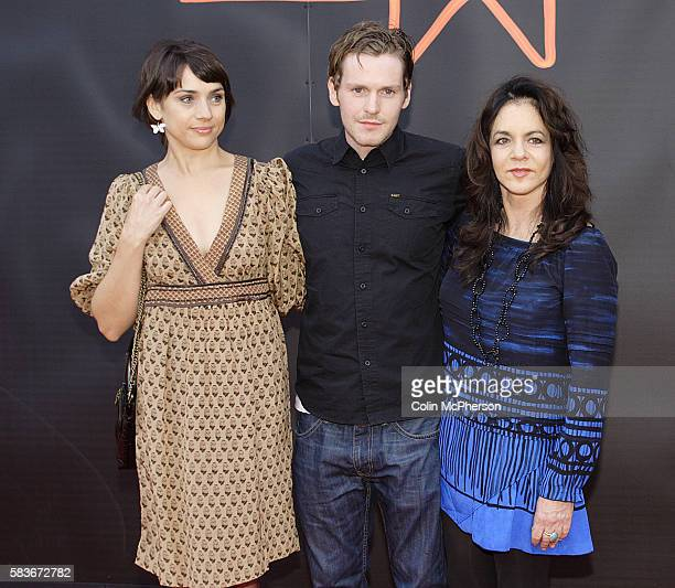 American actress Stockard Channing arriving with Shaun Evans and Amanda Ryan at the Cineworld cinema for the UK premiere of their latest film Sparkle...