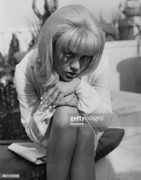 American actress Sue Lyon star of the film 'Lolita' during a reception in her honour at the Dorchester Hotel in London 2nd September 1962 She is in...