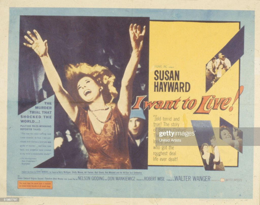 I want to live Susan Hayward vintage movie poster