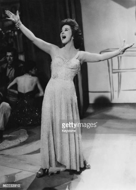 American actress Susan Hayward in a scene from 'I'll Cry Tomorrow' a biopic of Broadway singer Lillian Roth 1955