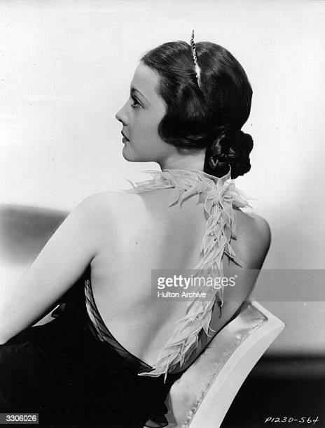 American actress Sylvia Sidney wearing the tiara hairdress she wore in 'Thirty Day Princess.'