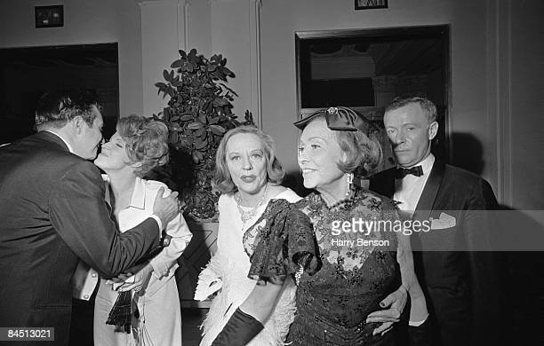 American actress Tallulah Bankhead at Truman Capote's BlackandWhite Ball in the Grand Ballroom of the Plaza Hotel New York City 28th November 1966