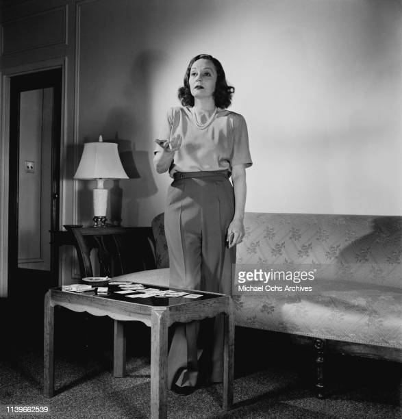 American actress Tallulah Bankhead in New York City 1947