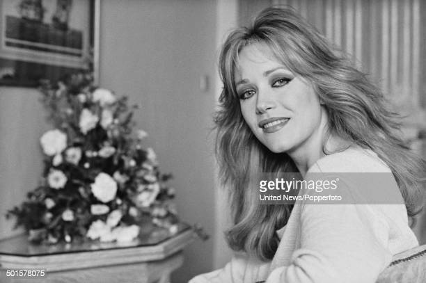 American actress Tanya Roberts in London on 11th June 1985
