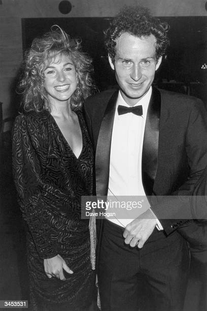 American actress Tatum O'Neal with her husband American Tennis star John McEnroe 1985