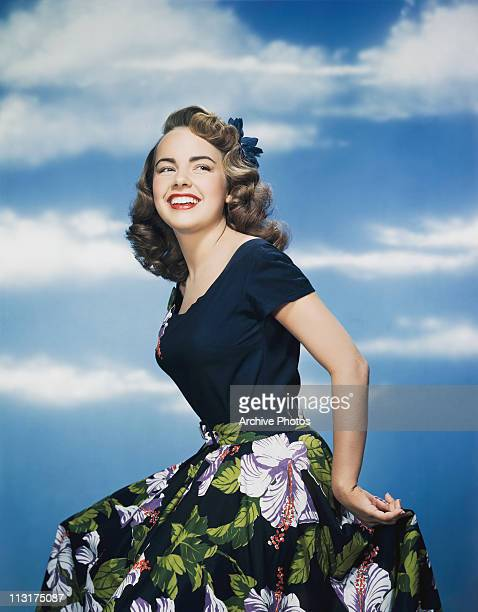 American actress Terry Moore poses in the 1950's