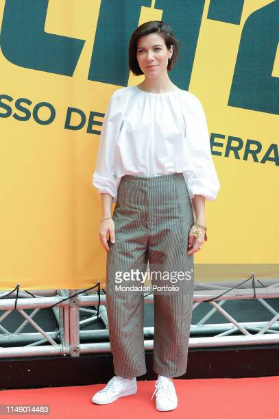 American actress Tessa Ferrer attends the Sky TV series Catch-22 photocall. Rome , May 13th, 2019