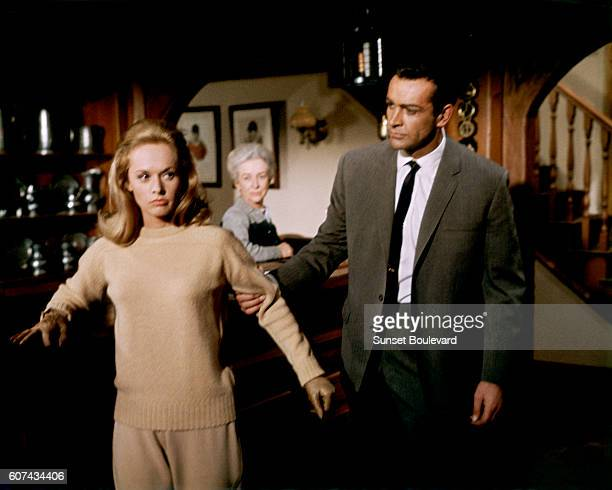American actress Tippi Hedren and Scottish actor Sean Connery on the set of Marnie based on the novel by Winston Graham and directed and produced by...