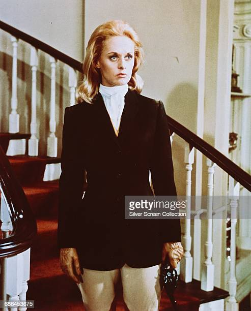 American actress Tippi Hedren as Marnie Edgar in the Alfred Hitchcock film 'Marnie' 1964