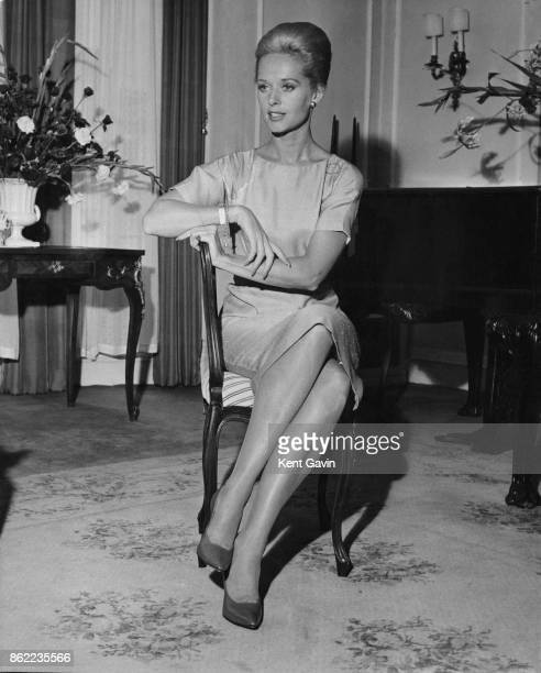 American actress Tippi Hedren at Claridge's Hotel in London 23th August 1963 She is in the capital for the UK premiere of the Alfred Hitchcock film...