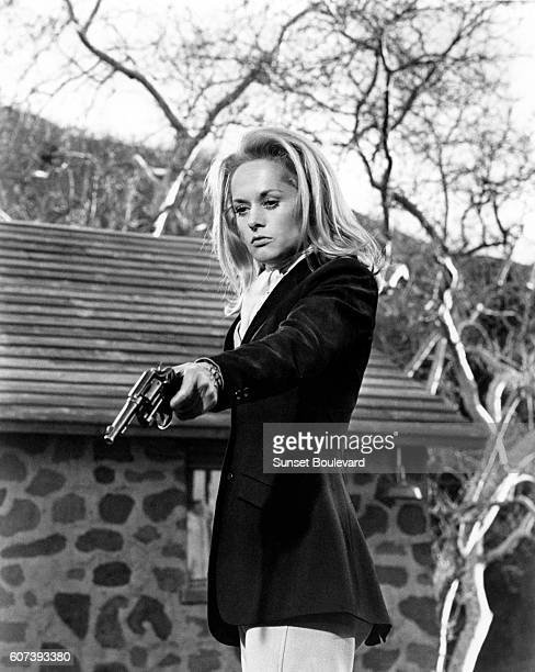 American actress Tippi Hedren on the set of Marnie based on the novel by Winston Graham and directed and produced by British Alfred Hitchcock