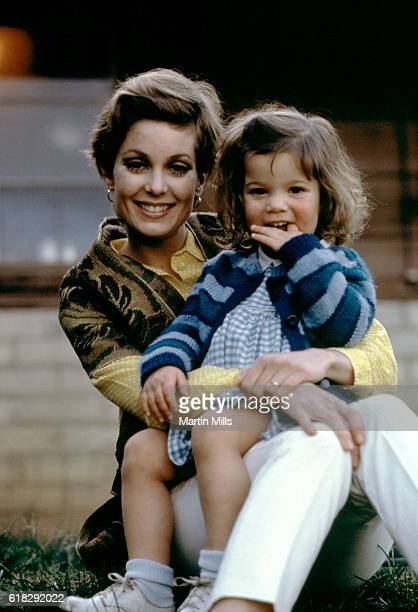 American actress Tisha Sterling poses for a portrait with her daughter Heidi Bates Hogan circa 1970